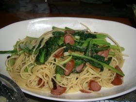小松菜ペペロンチーノ