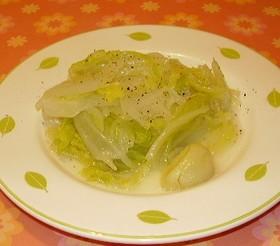 白菜のオリーブオイル蒸し