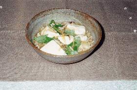 ゆで豆腐の肉野菜あんかけ