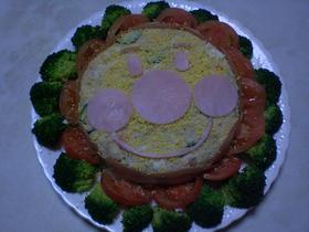 ポテトサラダ de アンパンマンケーキ