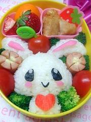 キャラ弁☆ウサギちゃん弁当♪の写真