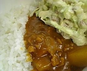 ヘルシー★キャベツとマヨと納豆カレー