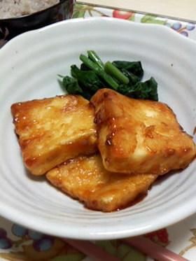 簡単ひとりレシピ★豆腐ステーキ
