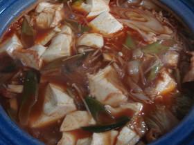 寒い季節に暖まるキムチ鍋♪