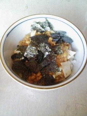 納豆と梅肉のねばねば丼