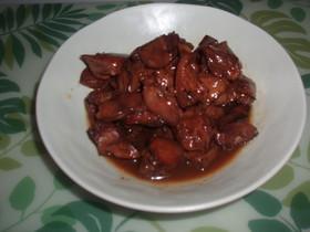 鶏レバーの甘辛煮❤
