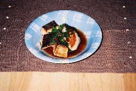 焼き鮭の香味ソース