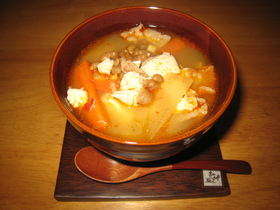 チョングッチャンチゲ風☆納豆汁