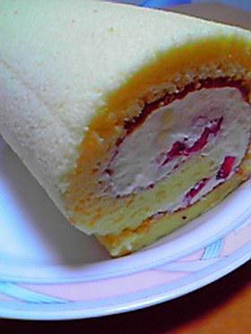 しっとりフワフワ♪簡単ロールケーキ