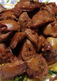 生姜でサッパリ!鶏レバーのてり煮♫