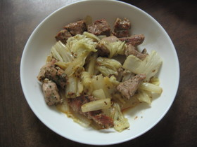 豚ヒレと白菜の蒸し炒め
