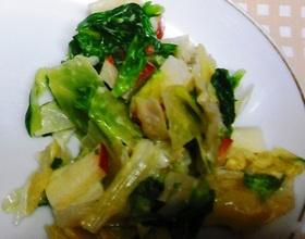 菜の花とキャベツの「こぶ茶」で春サラダ
