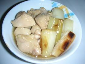 焼きねぎと鶏肉の煮物