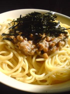 梅しそ納豆★和風スパゲッティ