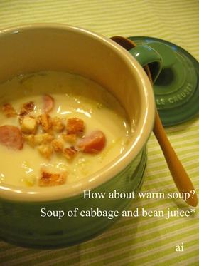☆キャベツと豆乳のヘルシースープ☆