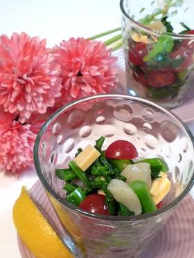 お洒落★栄養たっぷり菜の花のカップサラダ