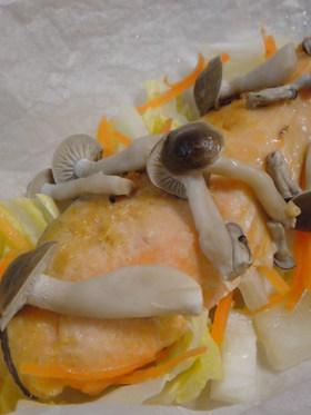レンジで4分*野菜と鮭のふっくら蒸し