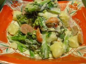 菜の花が食べやすいポテトサラダ