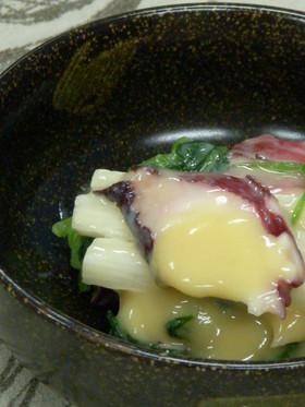 タコと三つ葉と長芋の辛子酢味噌和え