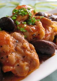 鶏肉とお豆の洋風コチュ煮込み