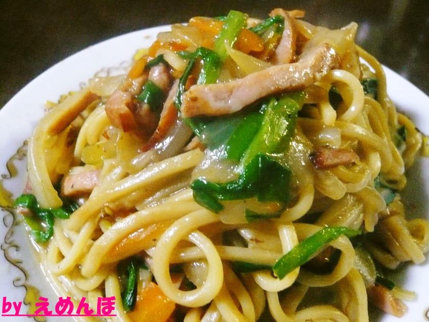 簡単麺レシピ!中華麺でパリとろ焼きそば