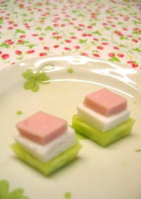ひな祭りのお弁当に✿なんちゃってひし餅♫
