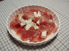 ☆コロコロ豆腐と生ハムのマリネ風サラダ☆