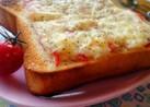ガツンとチーズ黒胡椒マヨカニカマトースト