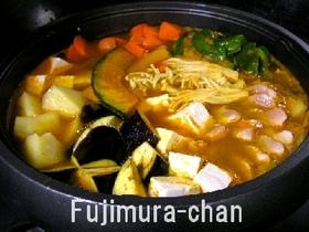 子供と大人の簡単スープカレー 鍋料理