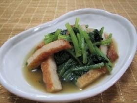 小松菜とさつま揚げの簡単煮浸し