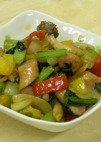 冷蔵庫のお掃除!野菜とウィンナーの炒め物