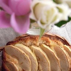 シンプルな林檎の焼きっぱなしケーキ