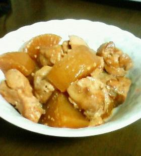 お味噌で鶏大根(圧力鍋使用)