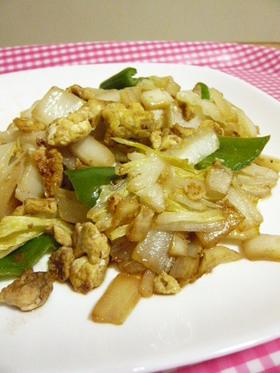 白菜の芯と卵のマヨ中華炒め☆
