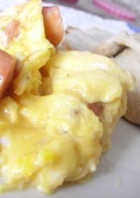 朝ご飯にどうぞ♪ふわふわ卵♪