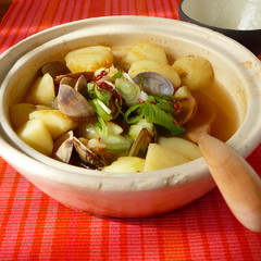 アサリとジャガイモのコチュジャンスープ