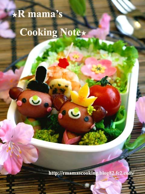 ウインナーBear's★雛祭りのお弁当