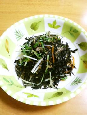 ひじきと水菜の煮物
