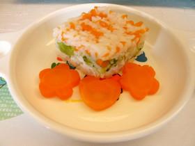 菱餅もどきご飯(離乳食/後期/ひな祭り)