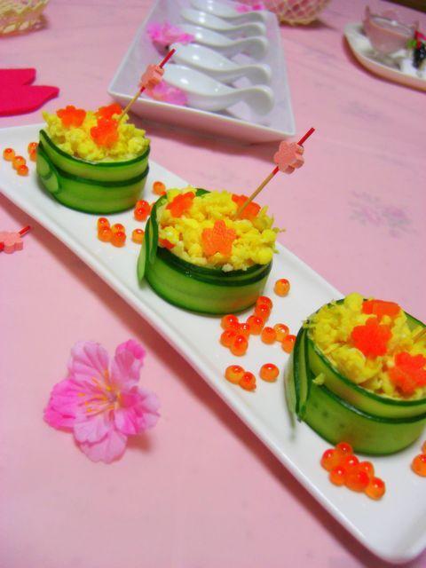 ひなまつりのお花畑サラダ