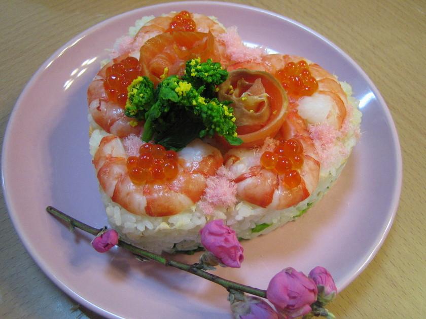 ひなまつり❀三段ケーキちらし寿司✿