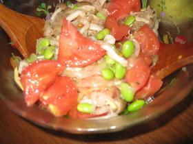 トマトと枝豆のカラフルマリネ