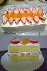 ケーキ型不要!フルーツケーキの写真