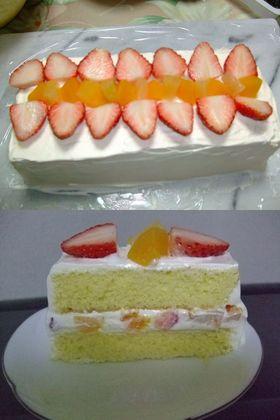 ケーキ型不要!フルーツケーキ