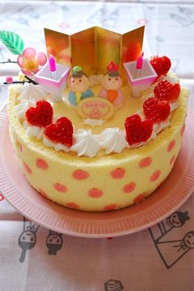 水玉ババロアのひな祭りケーキ