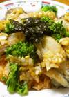 牡蠣と菜の花のコチュジャンライス