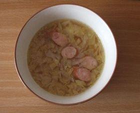簡単キャベツとウィンナーのスープ!
