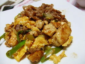 豆腐と豚肉のふんわぁり卵.*゜