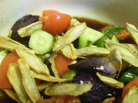 野菜の素揚げ和風マリネ