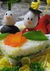 ひな祭りの可愛いケーキ寿司